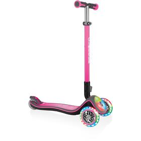 Globber Elite Deluxe Hulajnoga koła z bezbateryjnymi LEDami Dzieci, różowy
